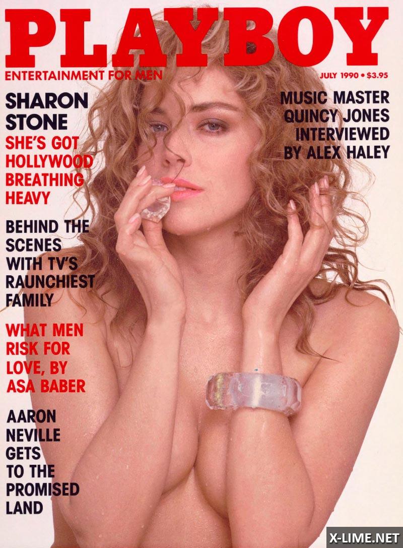 Голая Шерон Стоун в эротической фотосессии PLAYBOY