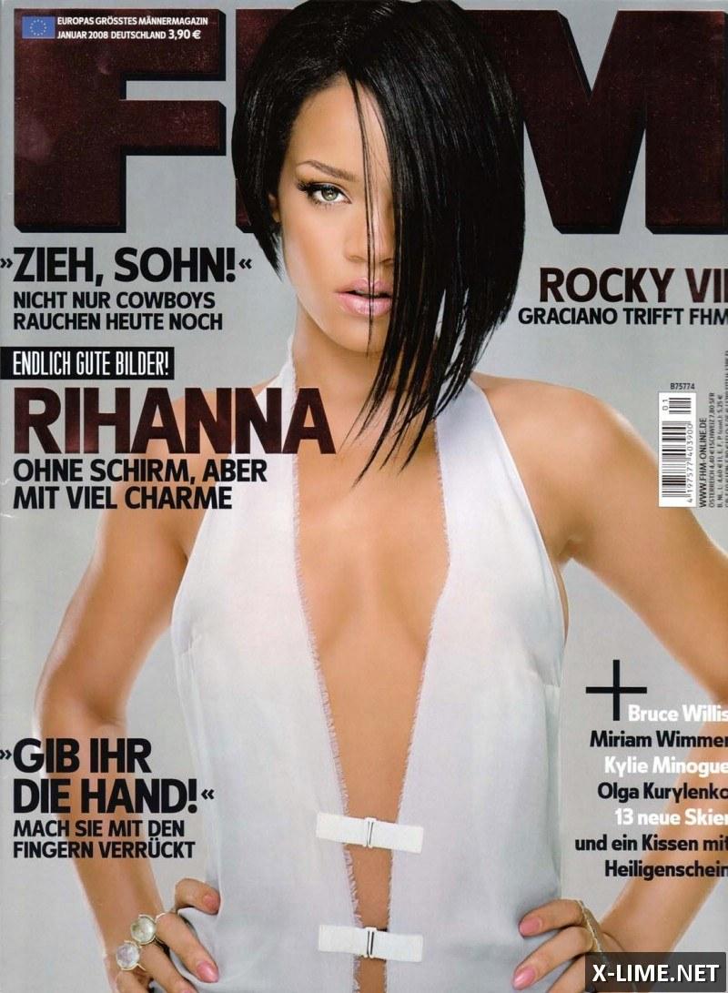 Голая Рианна, откровенные фото в журнале FHM