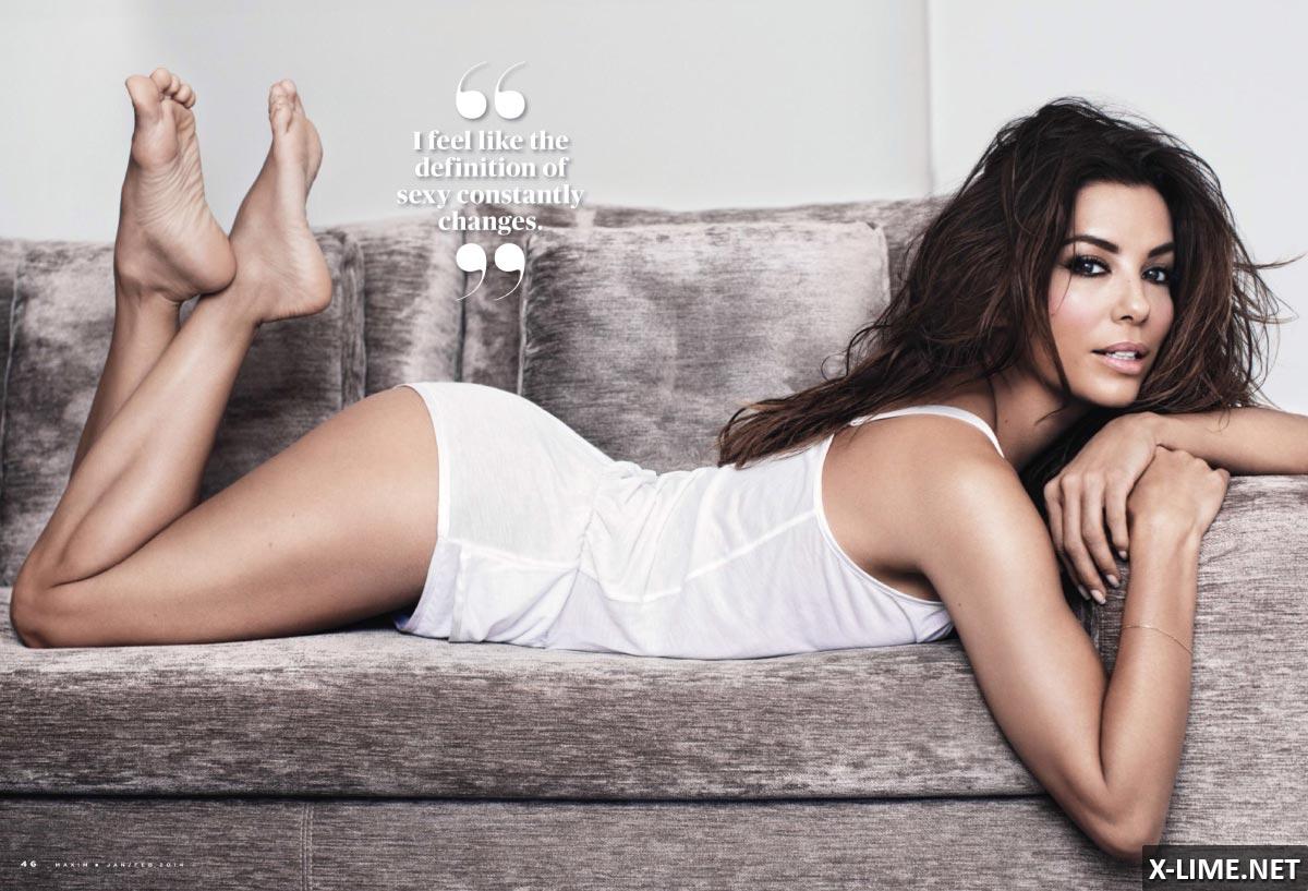 Голая Ева Лонгория в эротической фотосессии MAXIM