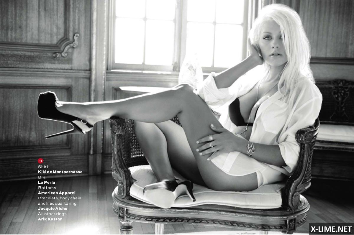 Голая Кристина Агилера в откровенной фотосессии MAXIM