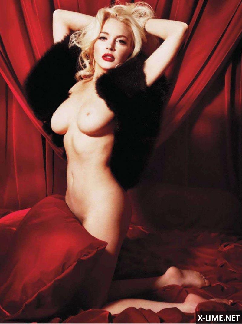 Голая Линдси Лохан, откровенные фото PLAYBOY
