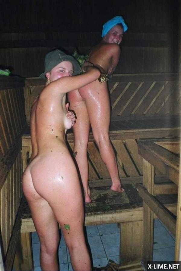 молодые худышки в сауне