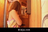 Порно Видео: Young girl pussy fucked by grandpa and