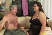 Порно Видео: Старый трахает толстую бабу