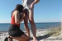 Порно Видео: Секс со зрелой на пляже