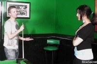 Порно Видео: Худой парень трахнул жируху