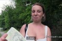 Порно Видео: Busty Czech student fucks outdoor pov