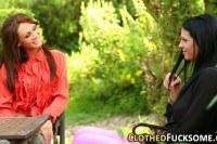 Порно Видео: Гламурные лесби со страпоном