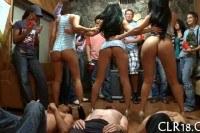 Порно Видео: Голые девушки сосет парням на вечеринке